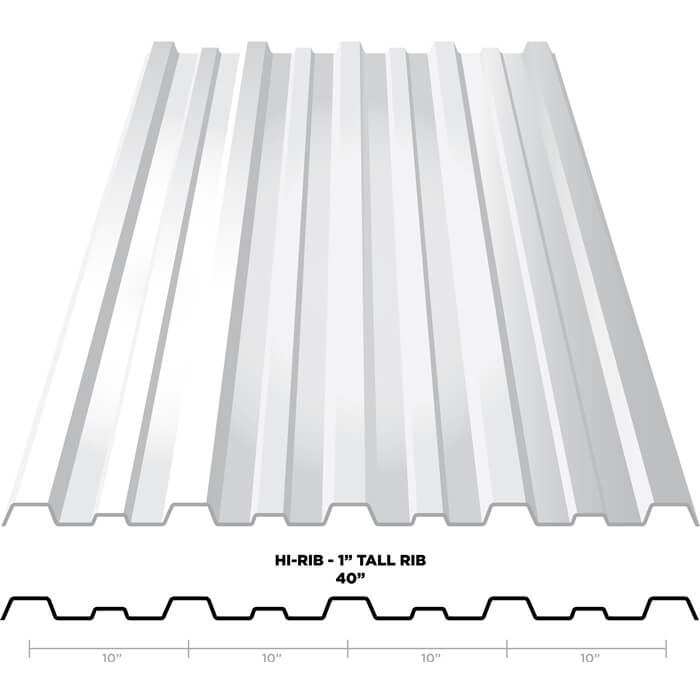 hi rib metal panels metal roofing construction